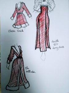Ruby of the Sea cosplay - santa dress designs - UriellActaea, 2D Artist and Illustrator