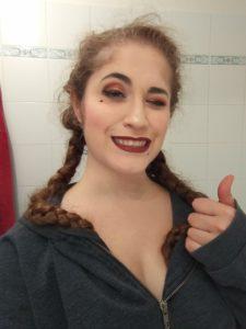 Ruby of the Sea cosplay - santa dress post-shooting selfie - UriellActaea, 2D Artist and Illustrator