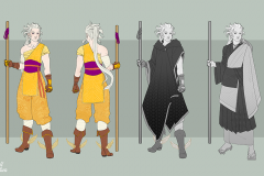 Enariel, Aasimar monk - Concept Art - UriellActaea, 2D Artist and Illustrator