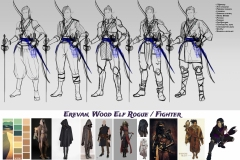 Sketches and styles iterations - Erevan, Wood Elf Rogue/Fighter - Concept Art - UriellActaea, Concept Artist and Illustrator
