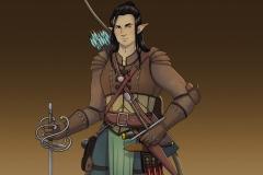 Rendered Fullbody - Erevan, Wood Elf Rogue/Fighter - Concept Art - UriellActaea, Concept Artist and Illustrator
