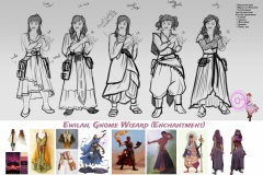 Sketches and styles iterations - Ewilan, Gnome Wizard - Concept Art - UriellActaea, Concept Artist and Illustrator