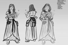 Turnaround sketches - Ewilan, Gnome Wizard - Concept Art - UriellActaea, Concept Artist and Illustrator