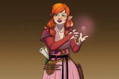 Rendered Fullbody - Ewilan, Gnome Wizard - Concept Art - UriellActaea, Concept Artist and Illustrator