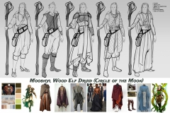 Sketches and styles iterations - Mooshyi, Wood Elf Druid - Concept Art - UriellActaea, Concept Artist and Illustrator
