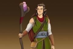 Rendered Fullbody - Mooshyi, Wood Elf Druid - Concept Art - UriellActaea, Concept Artist and Illustrator