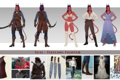 Susi, Tiefling Fighter - Concept Art - UriellActaea, 2D Artist and Illustrator