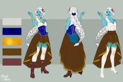 Sylbella, Sea Elf Bard - Concept Art - UriellActaea, 2D Artist and Illustrator