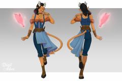 Syllia Goldshine, Tiefling Sorcerer - Concept Art - UriellActaea, 2D Artist and Illustrator