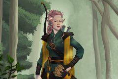 Talanah - Eladrin Ranger - DnD Character Illustration - UriellActaea, Concept Artist and Illustrator