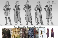 Sketches and styles iterations - Thia, Wood Elf Ranger - Concept Art - UriellActaea, Concept Artist and Illustrator