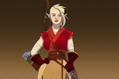 Rendered Fullbody - Thia, Wood Elf Ranger - Concept Art - UriellActaea, Concept Artist and Illustrator