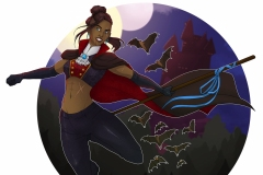 Vampire Beauregard, Halloween - Critical Role Fan Art - UriellActaea, 2D Artist and Illustrator