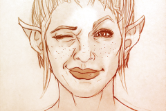 Fan Art, Traditional Illustration of Sera, Dragon Age Inquisition - UriellActaea, 2D Artist and Illustrator