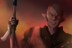 The dread Wolf Rises - Dragon Age Fan Art - UriellActaea, 2D Artist and Illustrator