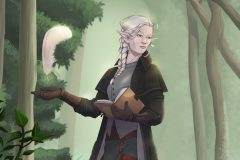 Baelen - Pallid Elf Wizard - DnD Character Illustration - UriellActaea, Concept Artist and Illustrator