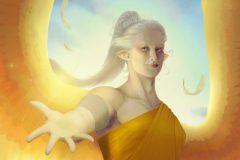 Enariel, Gentle soul - DnD Character Card Illustration - UriellActaea, Concept Artist and Illustrator