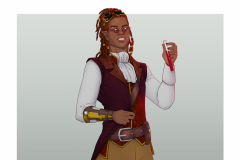 Ignis - Vampire Artificer - DnD Character Illustration - UriellActaea, 2D Artist and Illustrator