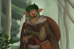 Kemen - Firbolg Druid - DnD Character Illustration - UriellActaea, Concept Artist and Illustrator