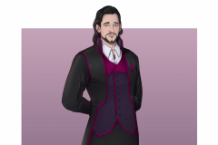 Sean - Human Warlock - DnD Character Illustration - UriellActaea, 2D Artist and Illustrator