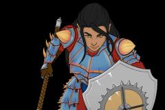 Tashatari Elf Cleric - DnD character token - UriellActaea, 2D Artist and Illustrator
